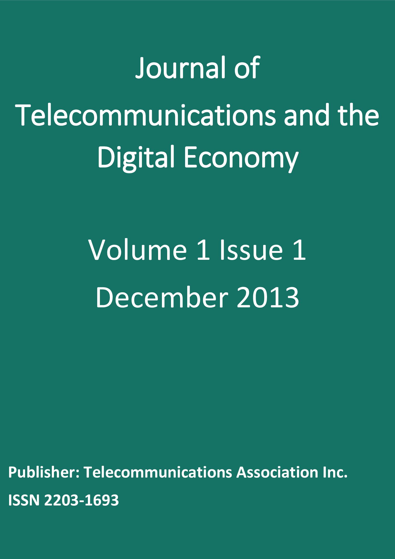 Vol. 1, No. 1 (2013)