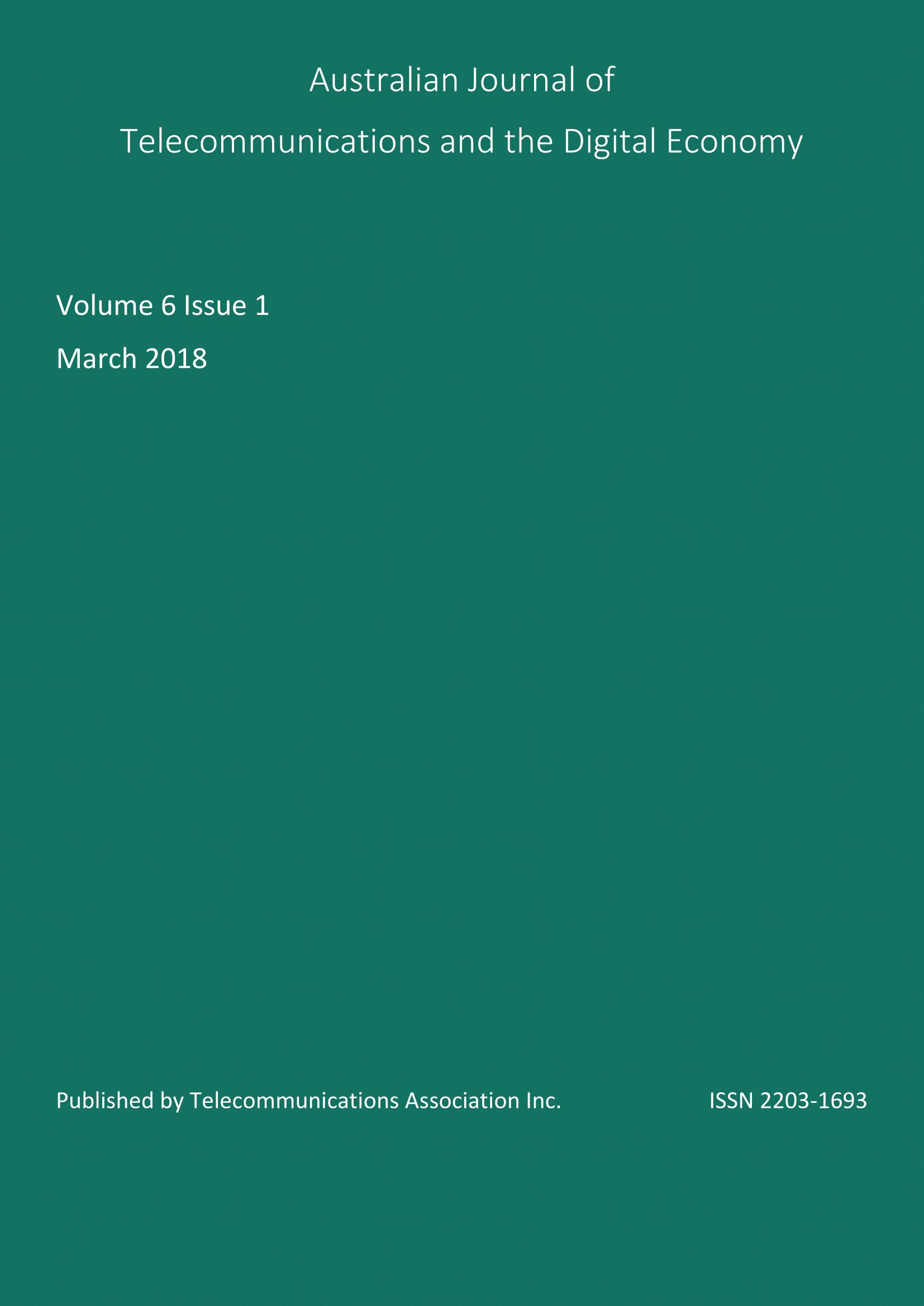 Vol. 6, No. 1 (2018)